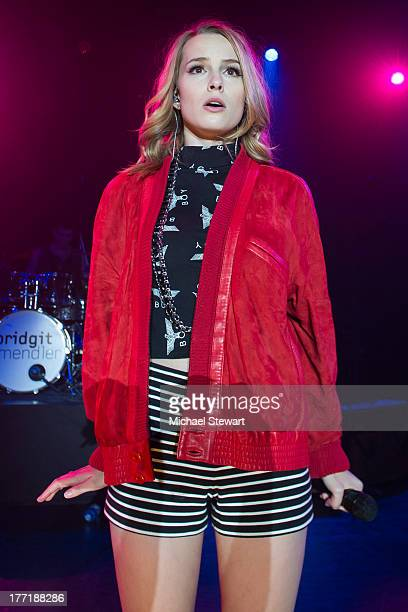 Musician Bridgit Mendler performs at Best Buy Theater on August 21 2013 in New York City