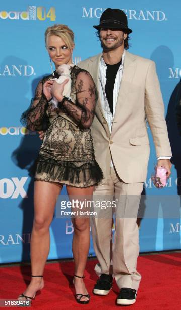 Musician Britney Spears and husband Kevin Federline arrive at the 2004 Billboard Music Awards at the MGM Grand Garden Arena on December 8 2004 in Las...
