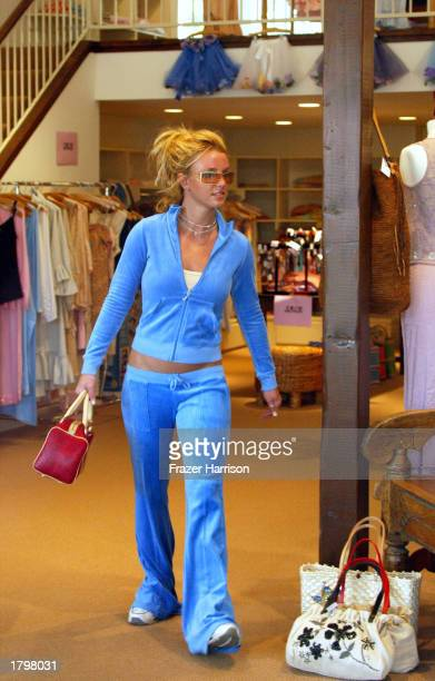 Musician Britney Spears shops in Calypso at the Sunset Plaza on February 14 2003 in Hollywood California