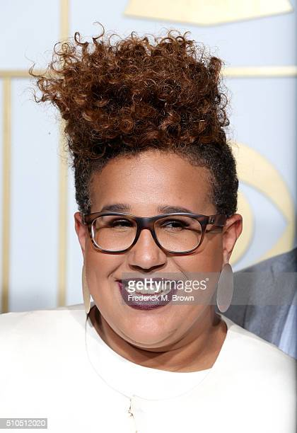 Musician Brittany Howard of the Alabama Shakes winner of the Best Rock Performance Award for 'Don't Wanna Fight' poses in the press room during The...