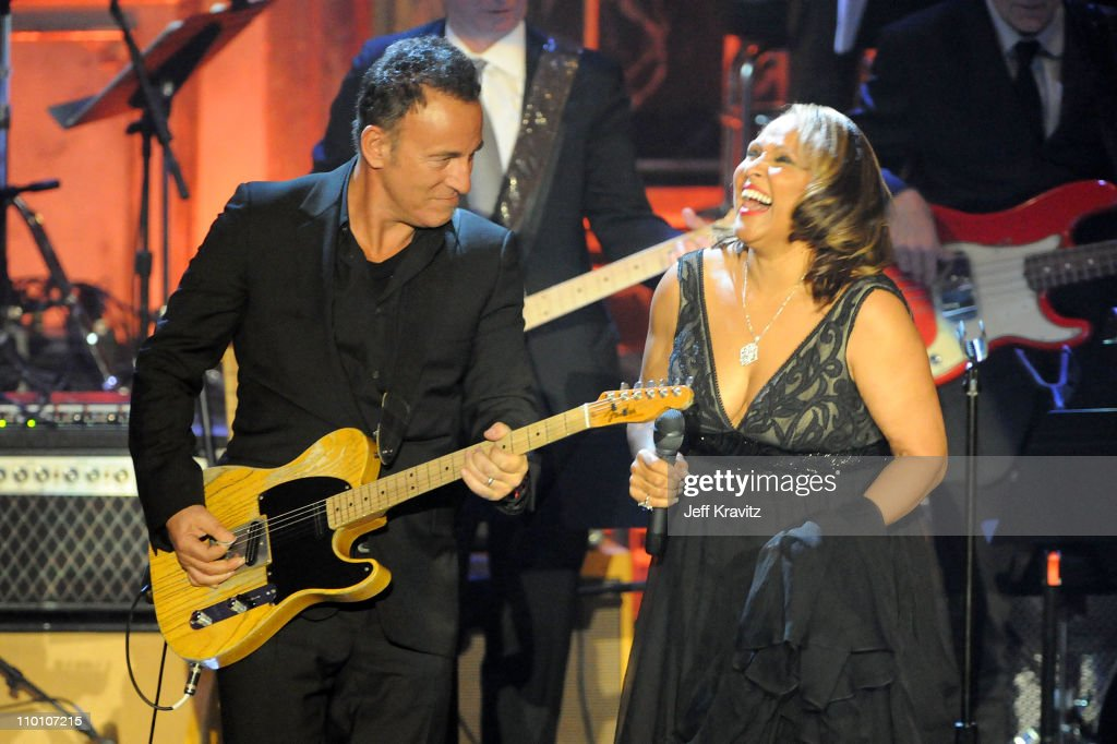 Musician <a gi-track='captionPersonalityLinkClicked' href=/galleries/search?phrase=Bruce+Springsteen&family=editorial&specificpeople=123832 ng-click='$event.stopPropagation()'>Bruce Springsteen</a> and inductee <a gi-track='captionPersonalityLinkClicked' href=/galleries/search?phrase=Darlene+Love&family=editorial&specificpeople=220743 ng-click='$event.stopPropagation()'>Darlene Love</a> perform onstage at the 26th annual Rock and Roll Hall of Fame Induction Ceremony at The Waldorf=Astoria on March 14, 2011 in New York City.