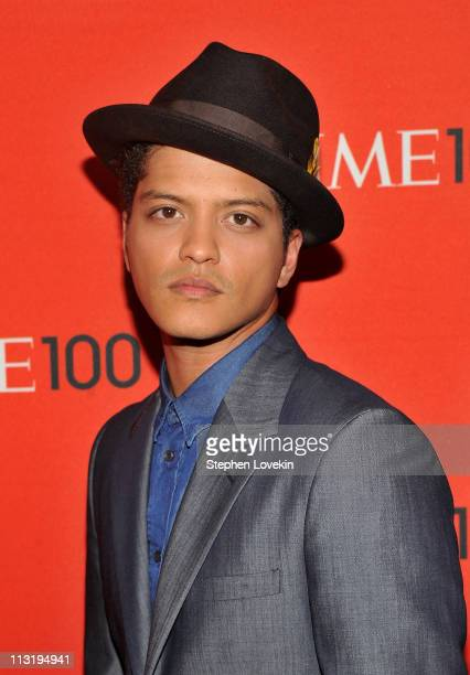Musician Bruno Mars attends the TIME 100 Gala TIME'S 100 Most Influential People In The World at Frederick P Rose Hall Jazz at Lincoln Center on...