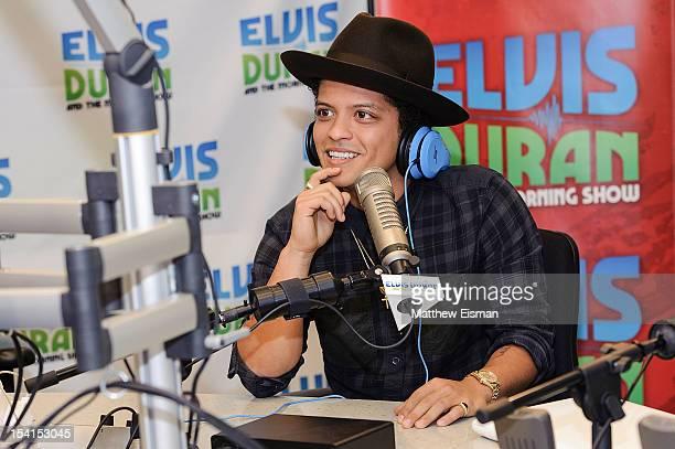 Musician Bruno Mars visits The Elvis Duran Z100 Morning Show at Z100 Studio on October 15 2012 in New York City