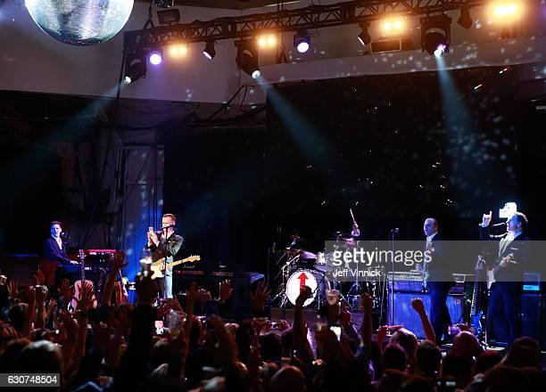 Musician Bryan Adams rings in the new year during the NHL Centennial Classic New Year's Eve Celebration at Muzik Event Center on January 1 2017 in...