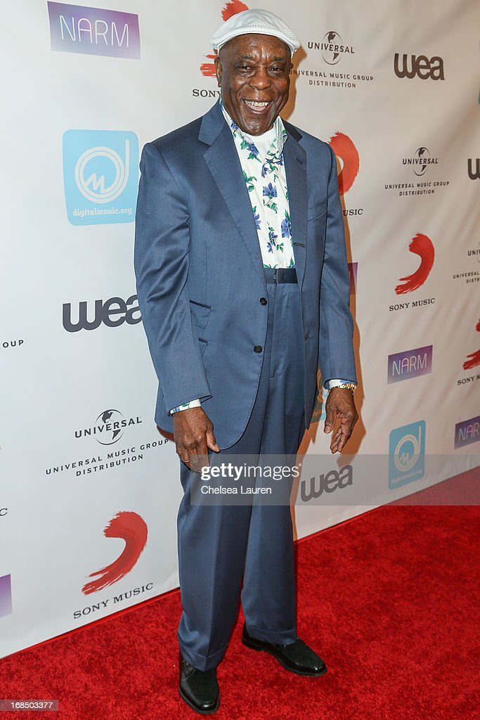 Musician <a gi-track='captionPersonalityLinkClicked' href=/galleries/search?phrase=Buddy+Guy&family=editorial&specificpeople=215438 ng-click='$event.stopPropagation()'>Buddy Guy</a> arrives at the NARM Music Biz Awards dinner party at the Hyatt Regency Century Plaza on May 9, 2013 in Century City, California.