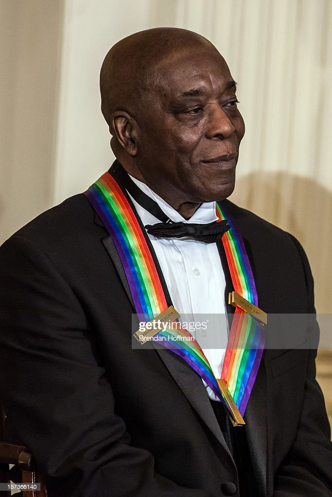 Musician <a gi-track='captionPersonalityLinkClicked' href=/galleries/search?phrase=Buddy+Guy&family=editorial&specificpeople=215438 ng-click='$event.stopPropagation()'>Buddy Guy</a> attends the Kennedy Center Honors reception at the White House on December 2, 2012 in Washington, DC. The Kennedy Center Honors recognized seven individuals - <a gi-track='captionPersonalityLinkClicked' href=/galleries/search?phrase=Buddy+Guy&family=editorial&specificpeople=215438 ng-click='$event.stopPropagation()'>Buddy Guy</a>, Dustin Hoffman, David Letterman, Natalia Makarova, John Paul Jones, Jimmy Page, and Robert Plant - for their lifetime contributions to American culture through the performing arts.