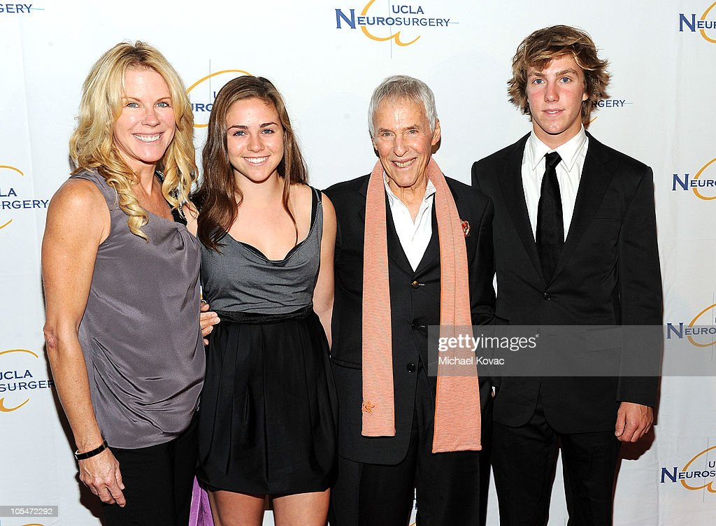 Musician Burt Bacharach (3rd from L), his wife Jane Bacharach (L), daughter Raleigh, and son Oliver attend UCLA Department of Neurosurgery's 2010 Visionary Ball at The Beverly Hilton Hotel on October 14, 2010 in Beverly Hills, California.