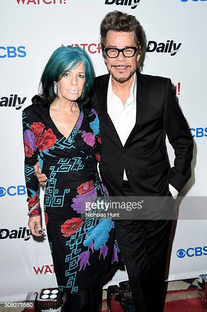 Musician Buster Poindexter and Mara Hennessey attend The Daily Front Row's celebration of the 10th Anniversary of CBS Watch Magazine at the Gramercy...