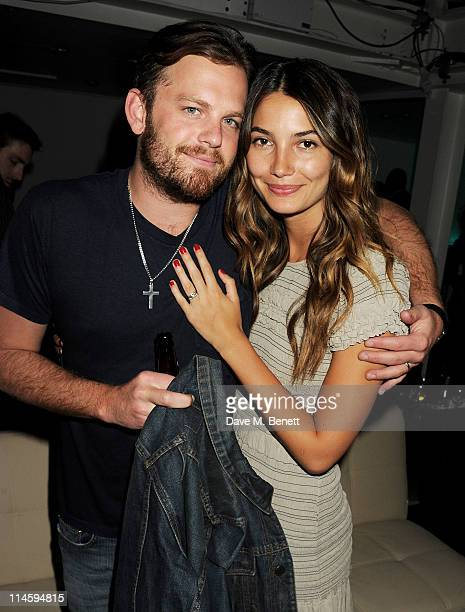 Musician Caleb Followill and Lily Aldridge attend the launch of Le Crazy Horse cabaret show at Supperclub on May 24 2011 in London England