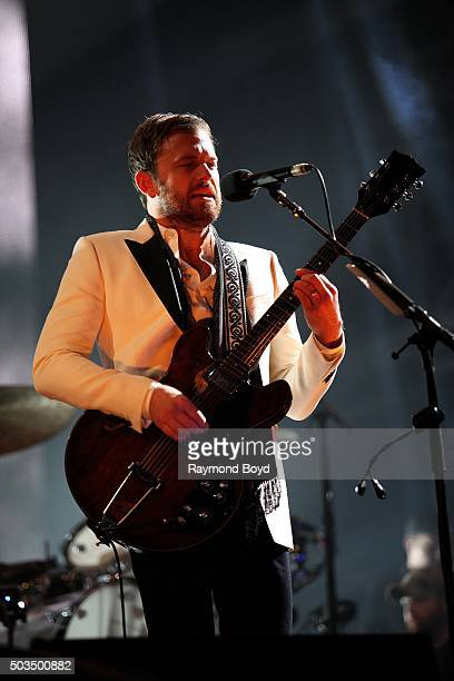 Musician Caleb Followill from Kings of Leon performs on stage during the 'New Year's Eve Jack Daniel's Bash On Broadway' on December 31 2015 in...