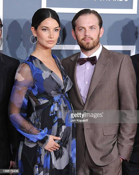Musician Caleb Followill of Kings of Leon and wife Lily Aldridge arrive at 54th Annual GRAMMY Awards held the at Staples Center on February 12 2012...