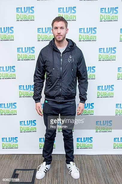 Musician Calvin Harris Visits 'The Elvis Duran Z100 Morning Show' at Z100 Studio on September 14 2016 in New York City