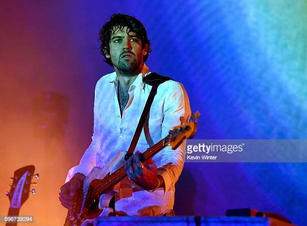 Musician Cam Avery of Tame Impala performs onstage during FYF Fest 2016 at Los Angeles Sports Arena on August 27 2016 in Los Angeles California