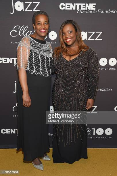 Musician Camille Thurman attends the Jazz at Lincoln Center 2017 Gala 'Ella at 100 Forever the First Lady of Song' on April 26 2017 in New York City
