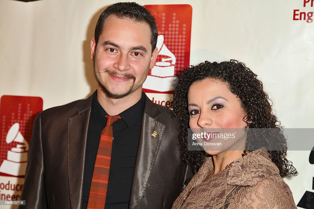 Musician Camilo Landau and Jessica Xiomara attend the producers & engineers wing of the recording Academy's 6th Annual GRAMMY Event 'An Evening Of Jazz' at The Village Recording Studios on February 6, 2013 in Los Angeles, California.