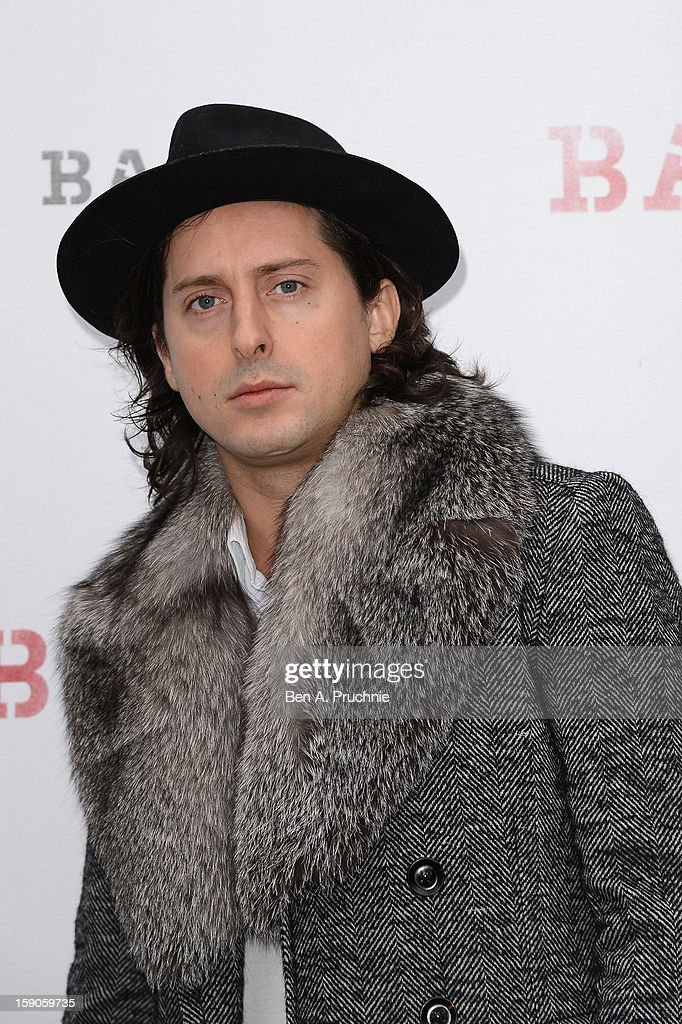 Musician Carl Barat attends the 'BALLY Celebrates 60 Years of Conquering Everest' at Bedford Square Gardens on January 7, 2013 in London, England.
