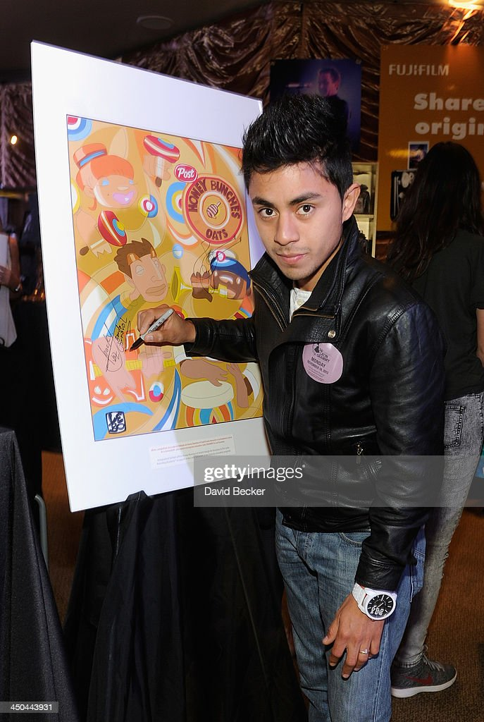 Musician Carlos Cruz attends a gift lounge during the 14th annual Latin GRAMMY Awards at the Mandalay Bay Events Center on November 18, 2013 in Las Vegas, Nevada.