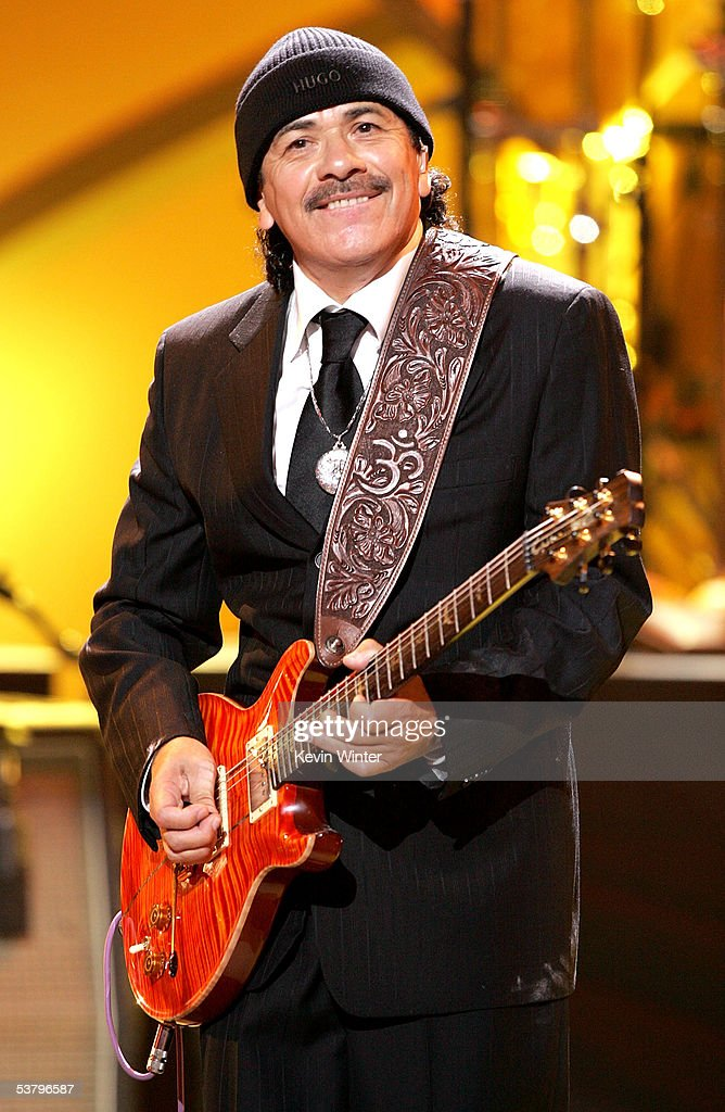 Musician <a gi-track='captionPersonalityLinkClicked' href=/galleries/search?phrase=Carlos+Santana+-+Musician&family=editorial&specificpeople=11497837 ng-click='$event.stopPropagation()'>Carlos Santana</a> performs onstage at the 2005 World Music Awards at the Kodak Theatre on August 31, 2005 in Hollywood, California.