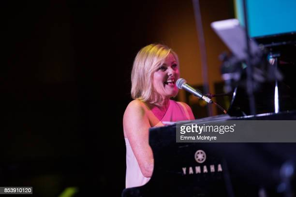 Musician Carol Welsman performs onstage at Pat Harris' California Democratic US Senate Run 2018 Kick Off at Catalina Jazz Club Bar Grill on September...