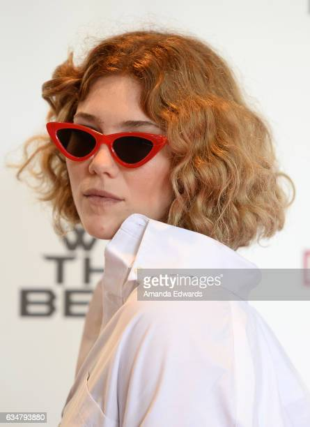 Musician Caroline Smith attends DJ Khaled's special press conference where DJ Khaled announced the title of his new album is going to be 'Grateful'...