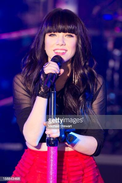 Musician Cary Rae Jepsen performs at New Year's Eve 2013 In Times Square at Times Square on December 31 2012 in New York City