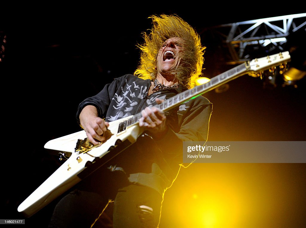 Musician <a gi-track='captionPersonalityLinkClicked' href=/galleries/search?phrase=C.C.+DeVille&family=editorial&specificpeople=632358 ng-click='$event.stopPropagation()'>C.C. DeVille</a> of Poison performs at the after party for the premiere of Warner Bros. Pictures' 'Rock Of Ages' at Hollywood and Highland on June 8, 2012 in Los Angeles, California.