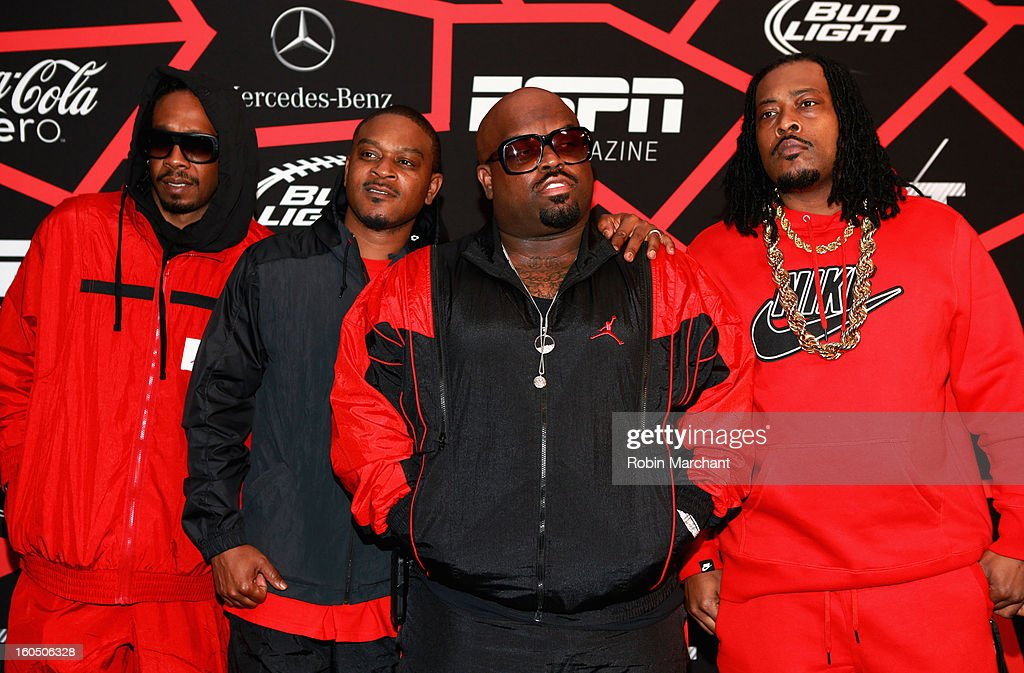 Musician Cee Lo Green (C) attends ESPN The Magazine's 'NEXT' Event at Tad Gormley Stadium on February 1, 2013 in New Orleans, Louisiana.