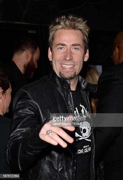 Musician Chad Kroeger of Nickelback arrives for Avril Lavigne secret performance at The Viper Room on April 25 2013 in West Hollywood California