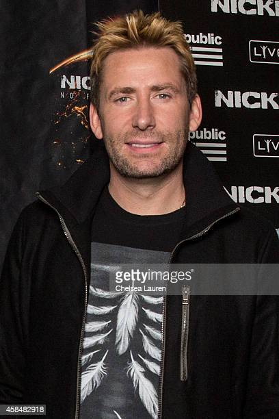 Musician Chad Kroeger of Nickelback poses backstage at House of Blues Sunset Strip on November 5 2014 in West Hollywood California