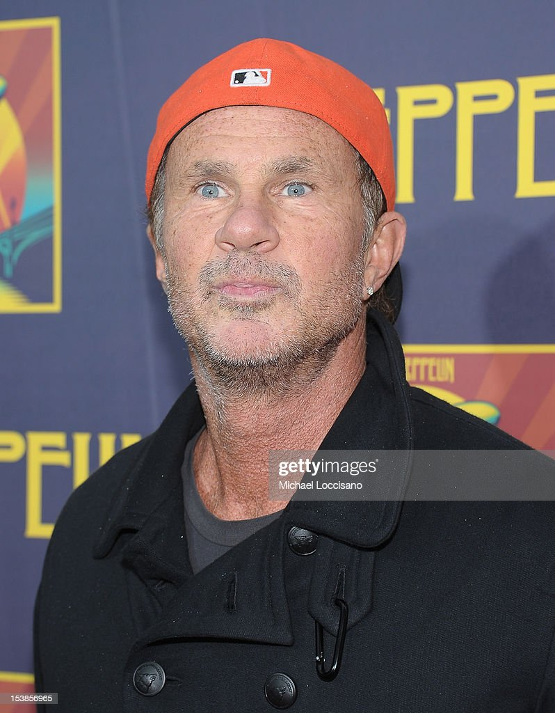 Musician <a gi-track='captionPersonalityLinkClicked' href=/galleries/search?phrase=Chad+Smith+-+Drummer&family=editorial&specificpeople=12809050 ng-click='$event.stopPropagation()'>Chad Smith</a> attends the 'Led Zeppelin: Celebration Day' premiere at the Ziegfeld Theater on October 9, 2012 in New York City.