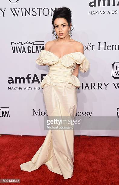 Musician Charli XCX attends the 2016 amfAR New York Gala at Cipriani Wall Street on February 10 2016 in New York City