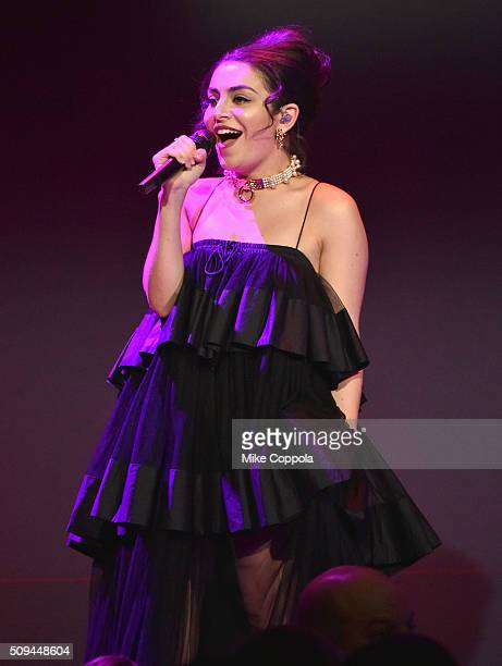 Musician Charli XCX performs onstage during the 2016 amfAR New York Gala at Cipriani Wall Street on February 10 2016 in New York City