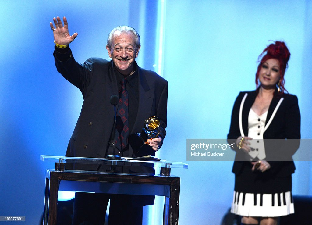 Musician <a gi-track='captionPersonalityLinkClicked' href=/galleries/search?phrase=Charlie+Musselwhite&family=editorial&specificpeople=4304064 ng-click='$event.stopPropagation()'>Charlie Musselwhite</a> (L) accepts the Best Blues Album award for 'Get Up!' onstage onstage during the 56th GRAMMY Awards Pre-Telecast at Nokia Theatre L.A. Live on January 26, 2014 in Los Angeles, California.