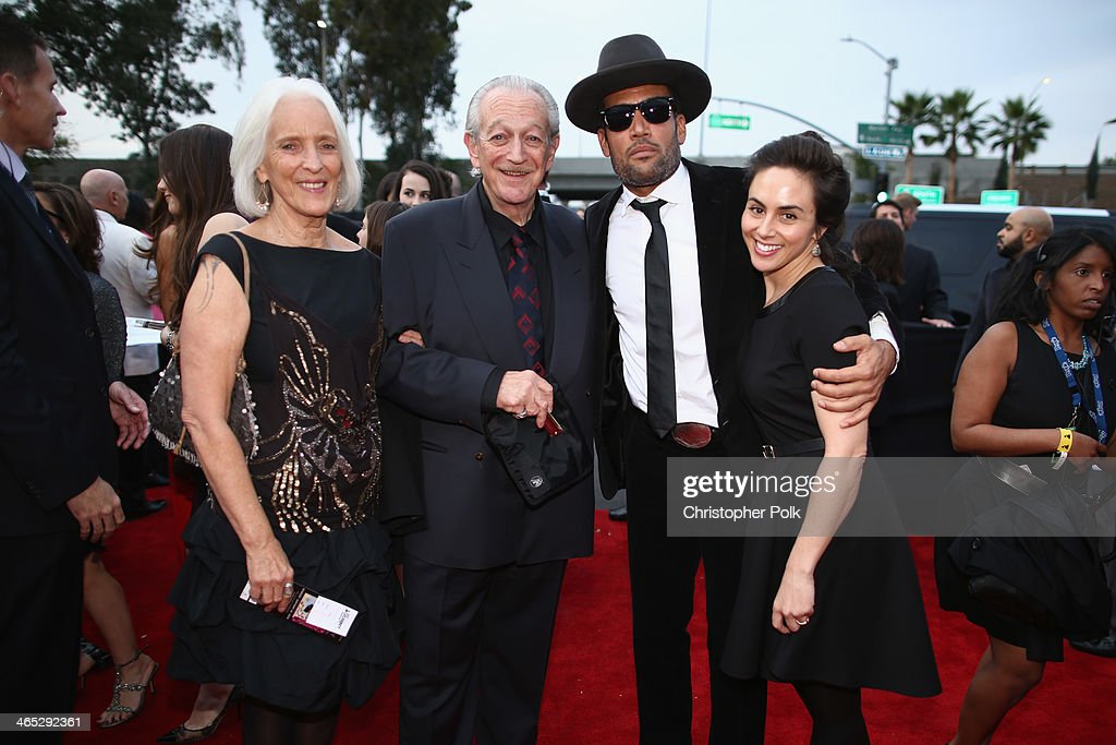 Musician <a gi-track='captionPersonalityLinkClicked' href=/galleries/search?phrase=Charlie+Musselwhite&family=editorial&specificpeople=4304064 ng-click='$event.stopPropagation()'>Charlie Musselwhite</a> (2nd from L), musician <a gi-track='captionPersonalityLinkClicked' href=/galleries/search?phrase=Ben+Harper&family=editorial&specificpeople=206209 ng-click='$event.stopPropagation()'>Ben Harper</a> (2nd from R) and guests attend the 56th GRAMMY Awards at Staples Center on January 26, 2014 in Los Angeles, California.