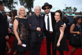 Musician Charlie Musselwhite musician Ben Harper and guests attend the 56th GRAMMY Awards at Staples Center on January 26 2014 in Los Angeles...