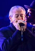 Musician Charlie Musselwhite performs onstage during the 56th GRAMMY Awards PreTelecast Show at Nokia Theatre LA Live on January 26 2014 in Los...