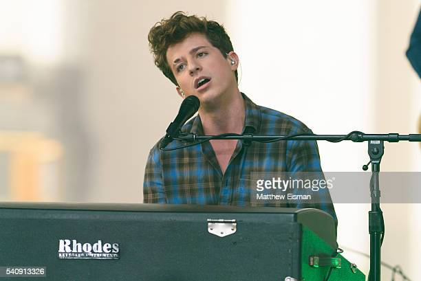 Musician Charlie Puth performs live on stage for the Citi Concert Series on NBC's 'Today' at Rockefeller Plaza on June 17 2016 in New York City