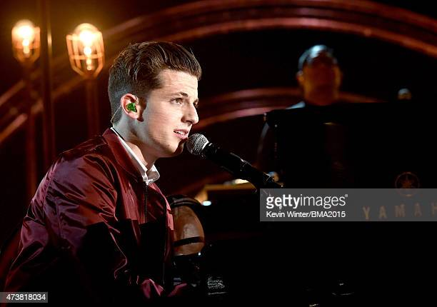 Musician Charlie Puth performs onstage during the 2015 Billboard Music Awards at MGM Grand Garden Arena on May 17 2015 in Las Vegas Nevada