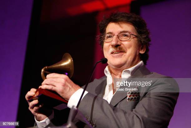 Musician Charly Garcia accepts the Life Achievement Award during the 2009 Latin Recording Academy Special Awards at Four Seasons Hotel Ballroom on...