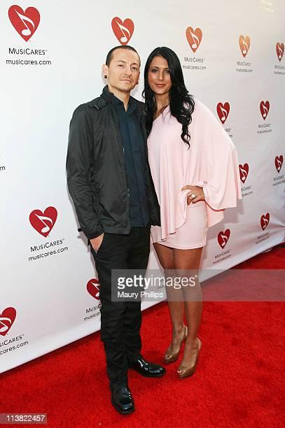 Musician Chester Bennington arrives at the 7th Annual MusiCares MAP Fund Benefit which provides members of the music community access to addiction...