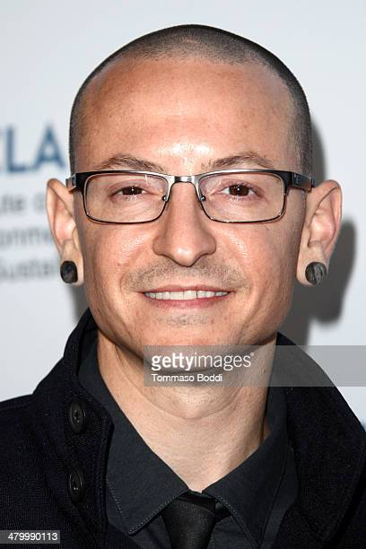 Musician Chester Bennington attends the an Evening of Environmental Excellence presented by the UCLA Institute of The Environment and Sustainability...