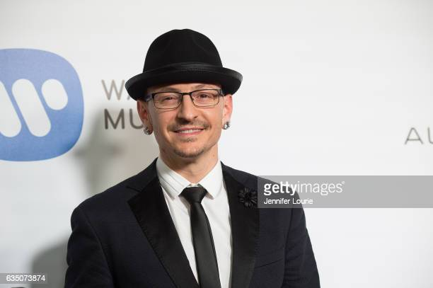 Musician Chester Bennington attends the Warner Music Group's Annual GRAMMY Celebration at Milk Studios on February 12 2017 in Hollywood California