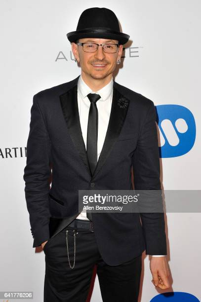 Musician Chester Bennington attends Warner Music Group's Annual GRAMMY Celebration at Milk Studios on February 12 2017 in Hollywood California