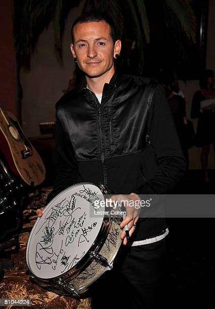 Musician Chester Bennington during The 4th Annual MusiCares MAP Fund Benefit Concert at The Music Box on May 9 2008 in Hollywood California