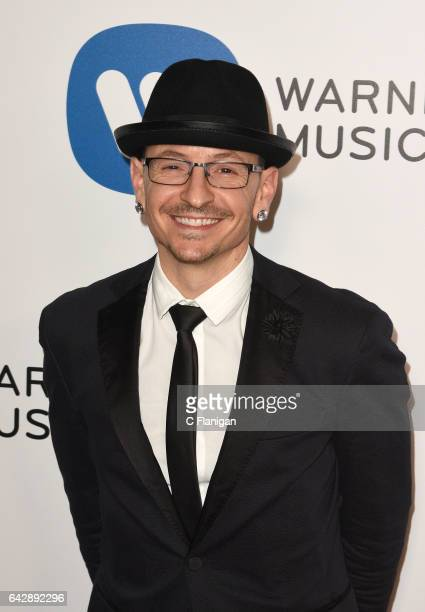 Musician Chester Bennington from Linkin Park attends the Warner Music Group GRAMMY Party at Milk Studios on February 12 2017 in Hollywood California