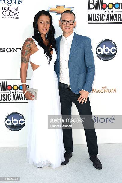Musician Chester Bennington of Linkin Park and wife Talinda Ann Bentley arrive at the 2012 Billboard Music Awards held at the MGM Grand Garden Arena...