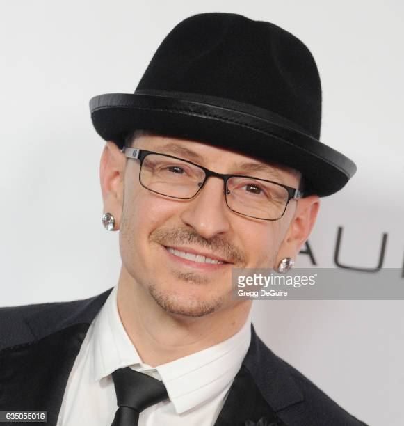 Musician Chester Bennington of Linkin Park arrives at Warner Music Group's Annual GRAMMY Celebration at Milk Studios on February 12 2017 in Hollywood...