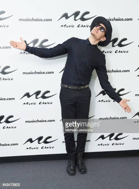 Musician Chester Bennington of the band Linkin Park visits Music Choice at Music Choice Studios on February 21 2017 in New York City
