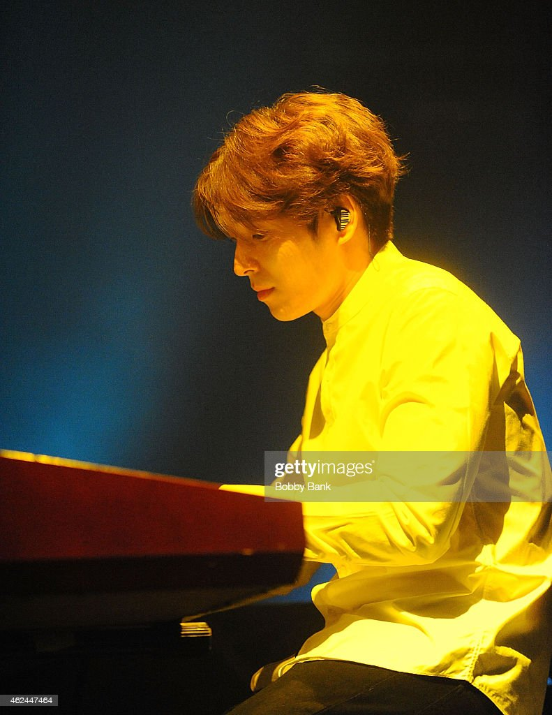 Musician Choi Jonghoon of the South Korean pop rock band FT Island performs at Best Buy Theater on January 28 2015 in New York City