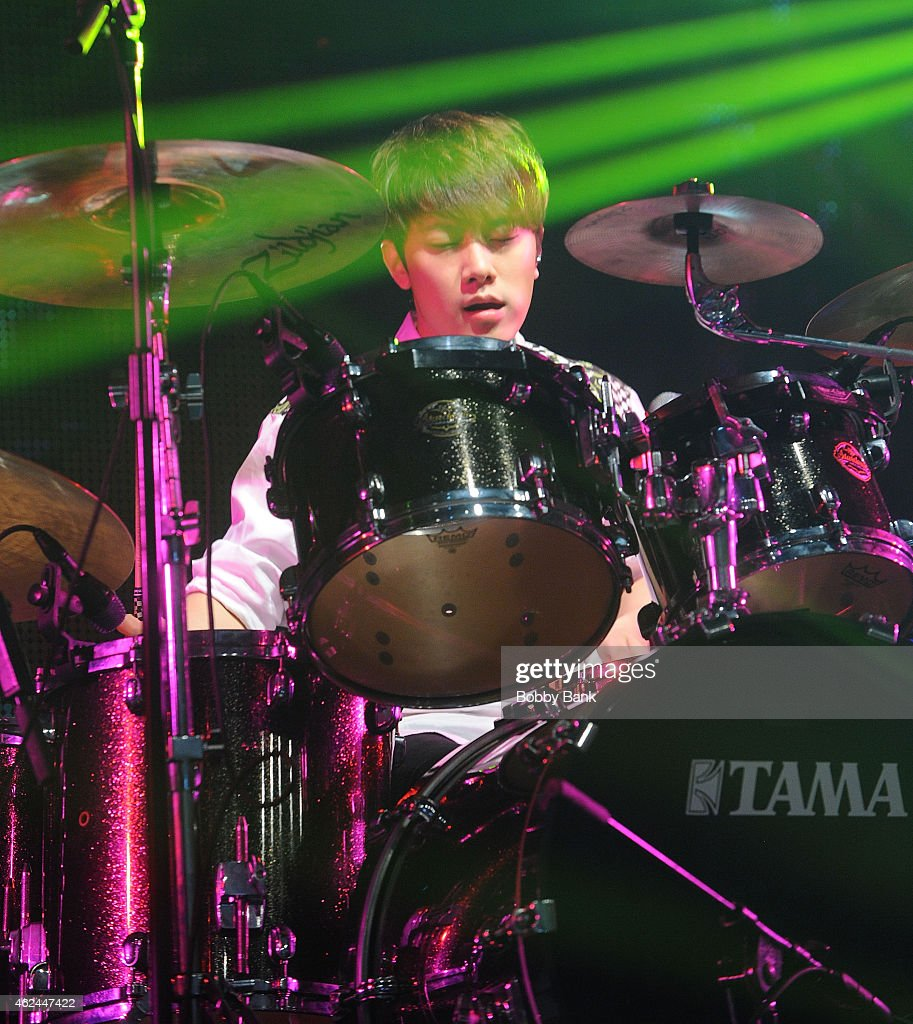 Musician Choi Minhwan of the South Korean pop rock band FT Island performs at Best Buy Theater on January 28 2015 in New York City